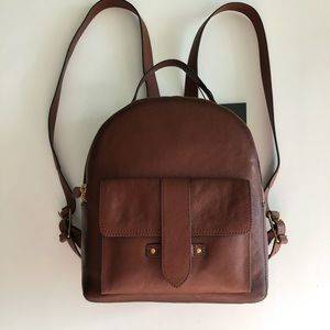 Frye Olivia Mini Backpack - Cognac